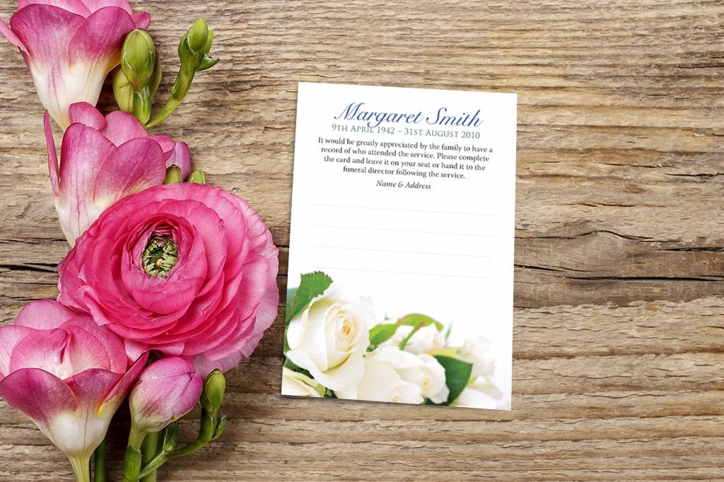 Funeral Attendance Cards by Fitting Farewell