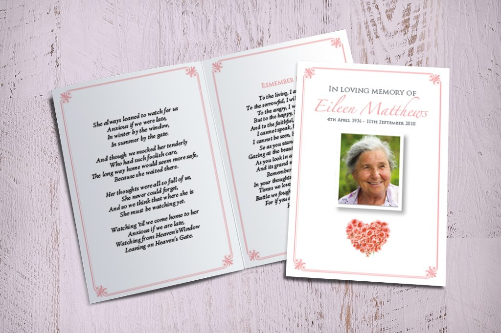 Memorial Cards - Funeral Printing Service - Fitting Farewell