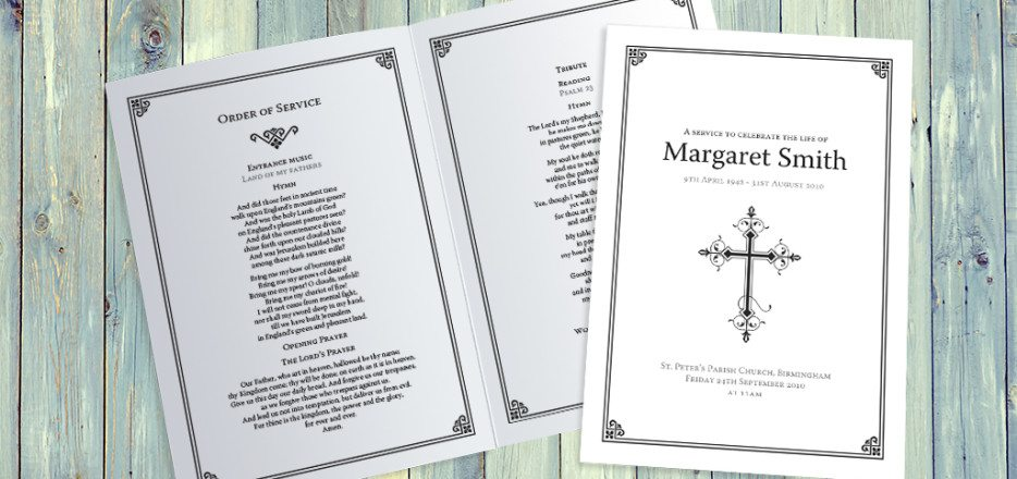 Art Deco Border Funeral Order of Service