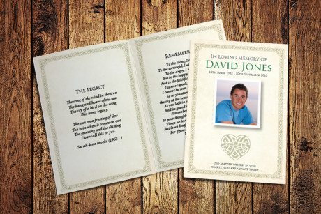 Celtic Cross Memorial Card Design by Fitting Farewell