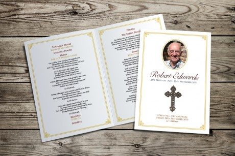 Cross Funeral Order of Service design by Fitting Farewell