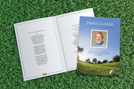 Golf Funeral Order of Service design by Fitting Farewell