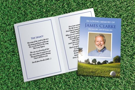 Golf Memorial Card Design by Fitting Farewell