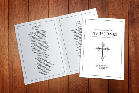 Simple Border Funeral Order of Service design by Fitting Farewell