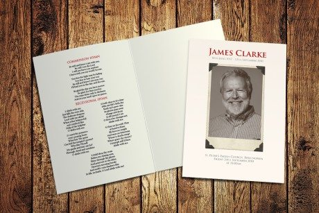 Vintage Photo Funeral Order of Service design by Fitting Farewell