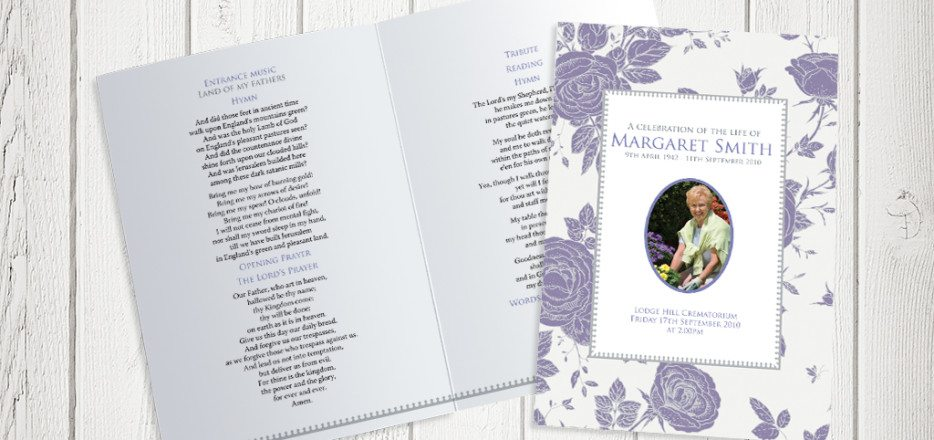 Vintage Rose (Layout 3) Funeral Order of Service design by Fitting Farewell