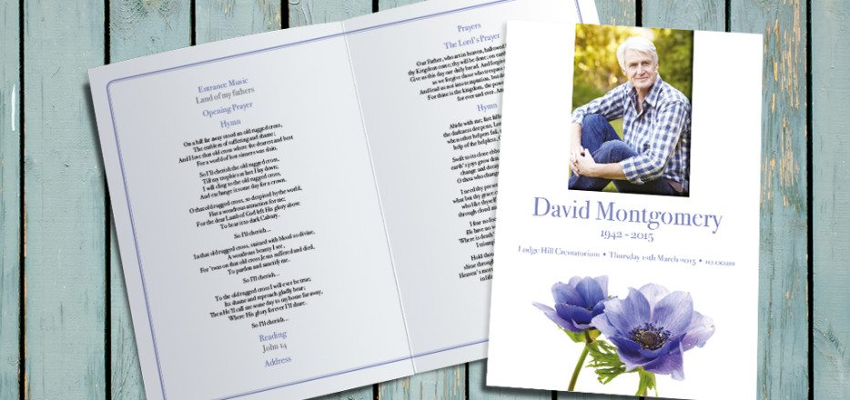 Cornflower Funeral Order of Service by Fitting Farewell