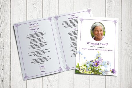 forget-me-not funeral order of service