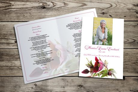 Hellebore Funeral Order of Service by Fitting Farewell