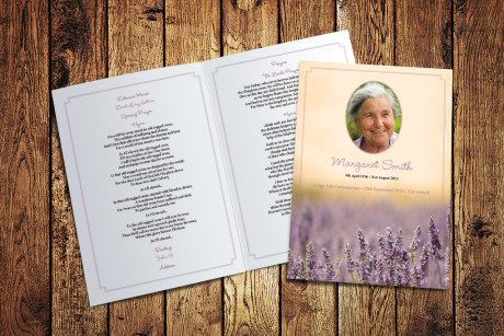 Lavender Meadow Funeral Order of Service by Fitting Farewell