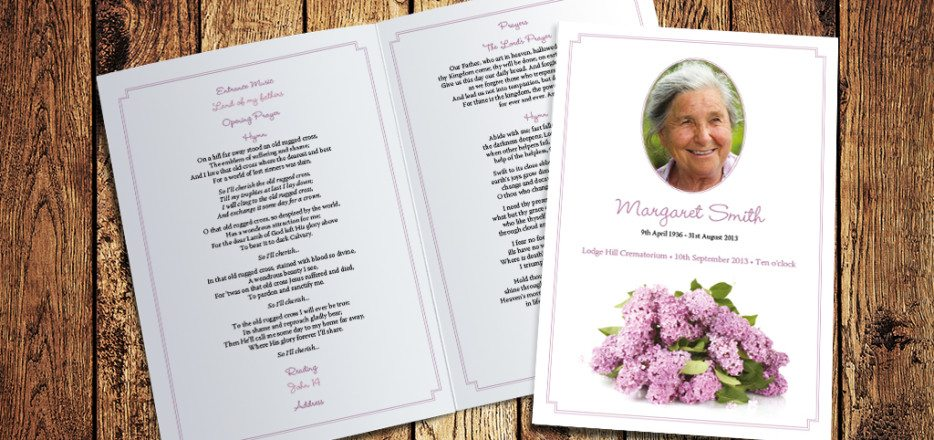 Lilac Funeral Order of Service by Fitting Farewell