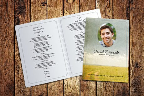 Meadow Road Funeral Order of Service by Fitting Farewell