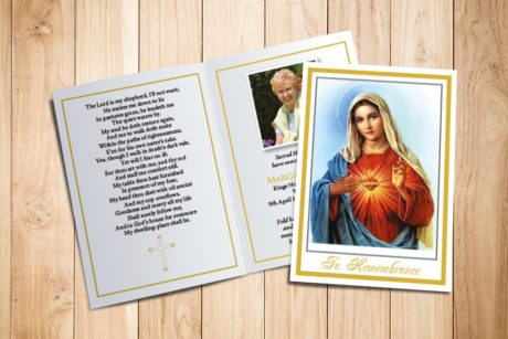 Blessed Virgin Memorial Card
