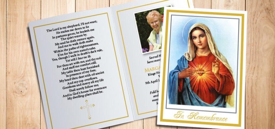 Blessed Virgin Memorial Card