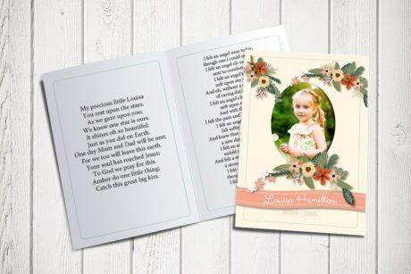 Flower Banner Memorial Card