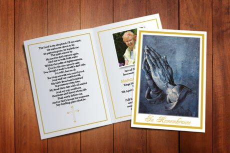 Praying Hands Memorial Card