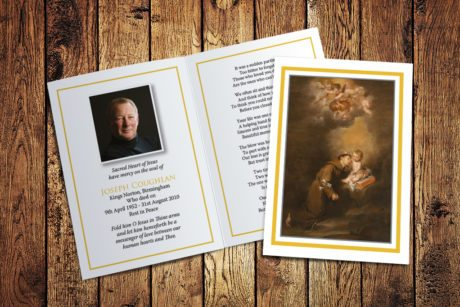 St Anthony Memorial Card