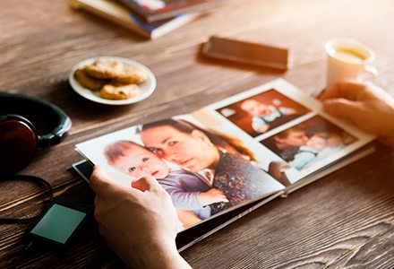 Family photographs to add to your Memorials Cards