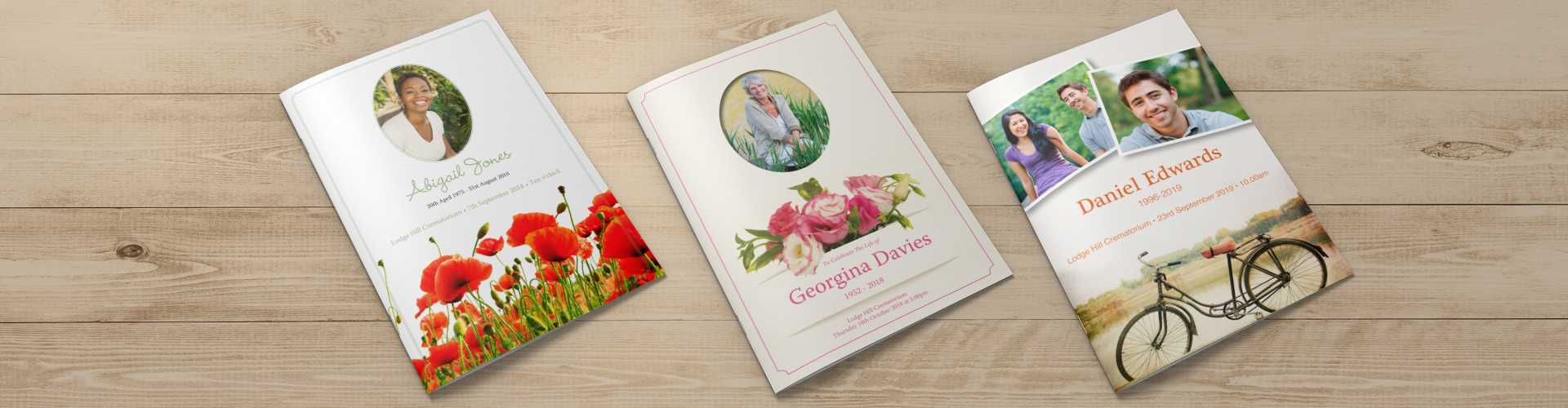 funeral order of service cards